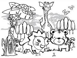 Cute Forest Animals For Coloring
