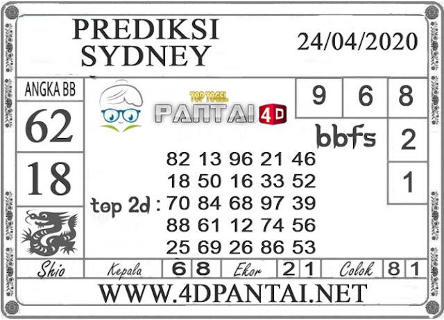 PREDIKSI TOGEL SYDNEY PANTAI4D 24 APRIL 2020