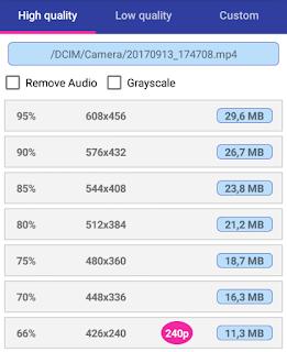 Cara memperkecil file video di Hp Android dengan Aplikasi kompres video