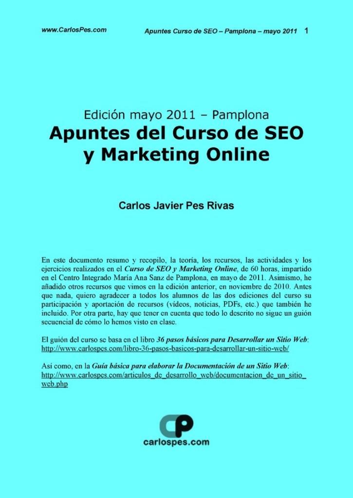 Apuntes del curso de SEO y marketing online – Carlos Javier Pes Rivas