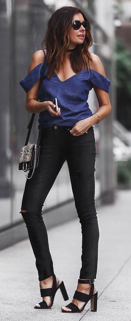 casual style obsession: top + bag + pants + heels