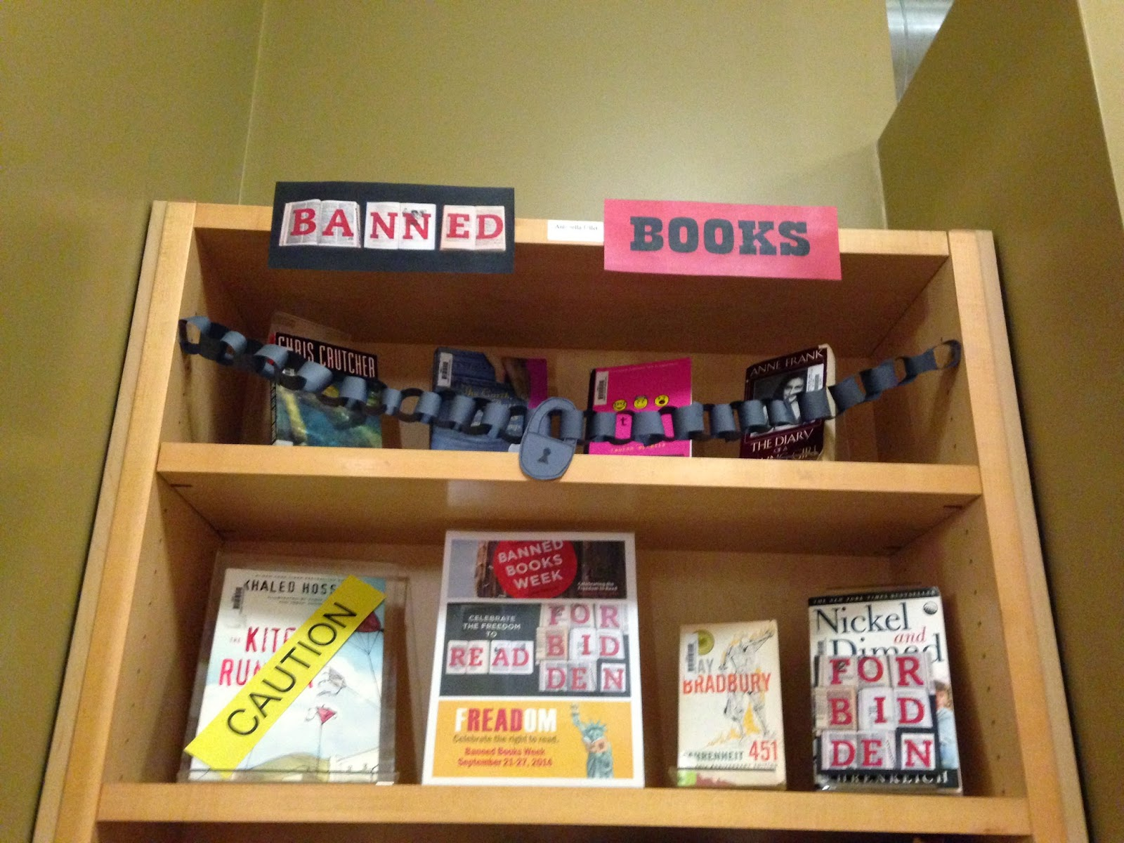 Librarian on Display September Banned Books Week