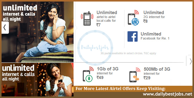 Airtel Night Pack, Airtel Night Plans, Airtel Unlimited Calls, Airtel Unlimited Internet