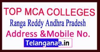 Top MCA Colleges in Ranga Reddy Andhra Pradesh