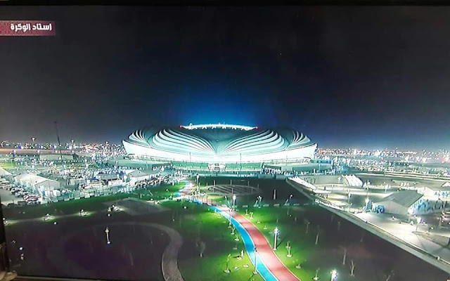 افتتاح ملعب الوكرة القطري بتقنية التبريد