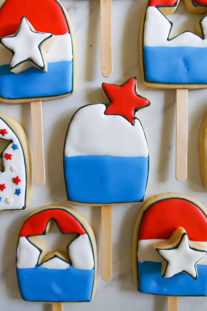 Bomb Pop-esque Cookies for 4th of July and a Texas Summer