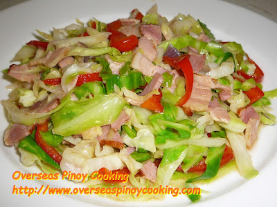 Ginisang Repolyo with Bacon