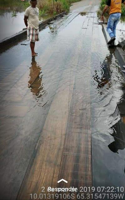 Alagamento: Trecho do Araras estará interditado por dois dias para elevação da ponte