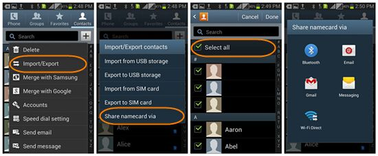 How To Transfer Contacts From Android To Android Without Gmail