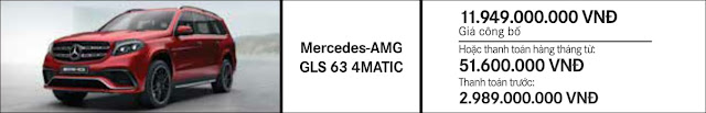 Giá xe Mercedes AMG GLS 63 4MATIC 2018 tại Mercedes Trường Chinh