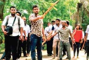 clash erupted between two groups of students at the University of Jaffna