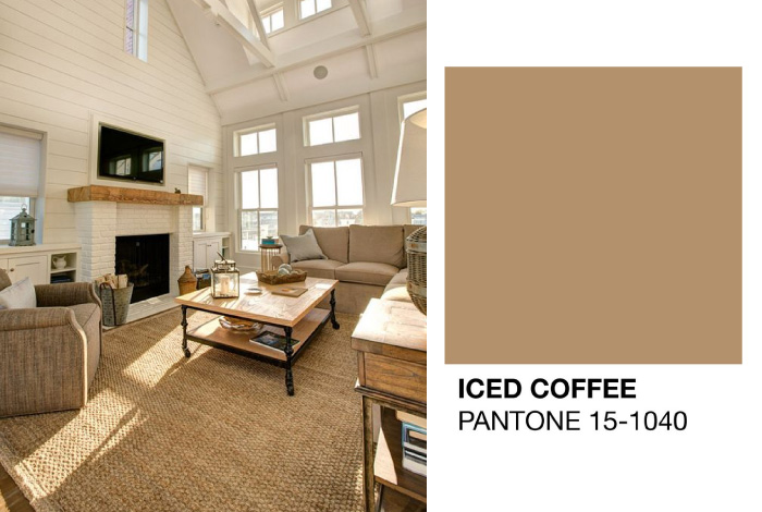 Colori Pareti 2016 : Tavolozza colori iced coffee pantone dettagli home