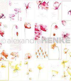 Alexandra Renke - 12x12 Spring Flowers Card Sheet