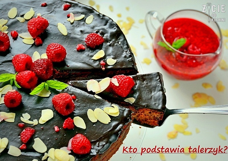 sernik, sernik czekoladowy, sernik z malinami, maliny, maliny poltino, mrozonki poltino, deser, on i ona w kuchni, deser z malinami, poltino, zycie od kuchni