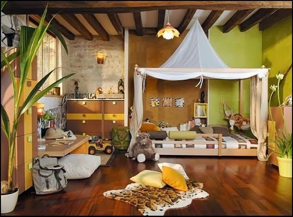 dormitorio temático jungla