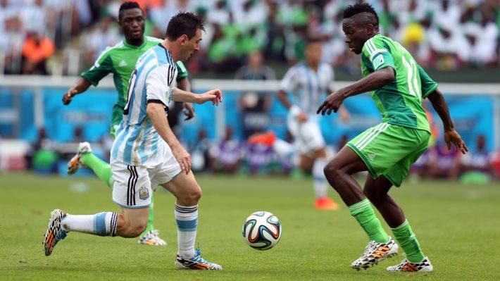 Wallpaper: Argentina vs Nigeria at World Cup 2014