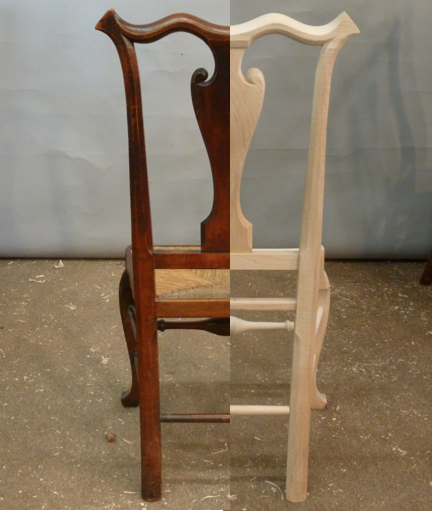 Rush Seat Reproduction Side Chairs