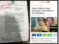 """""""DIBALIK Beredarnya Surat ASPAL (Asli Tapi Palsu) Dukungan GOLKAR kepada Ridwan Kamil"""""""