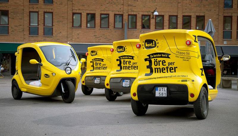 Bzzt - шведский сервис такси