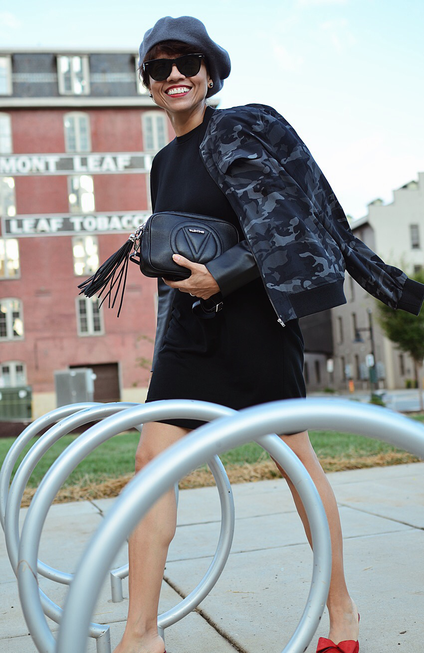 Black with grey street style