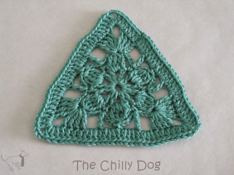 Crochet Pattern Triangle Motif The Chilly Dog
