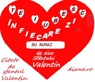 Te iubesc in fiecare zi a anului, nu numai de ziua Sfantului Valentn