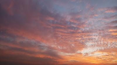 Orange colored sky photo