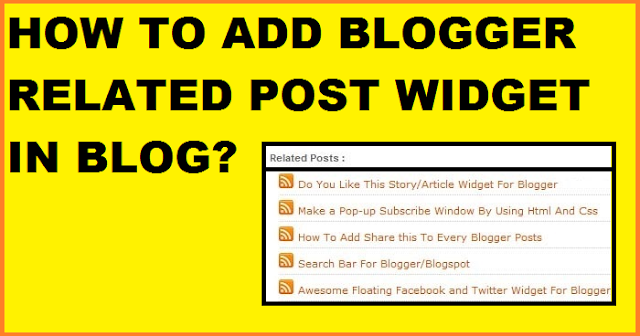 blogger related post widget in blog