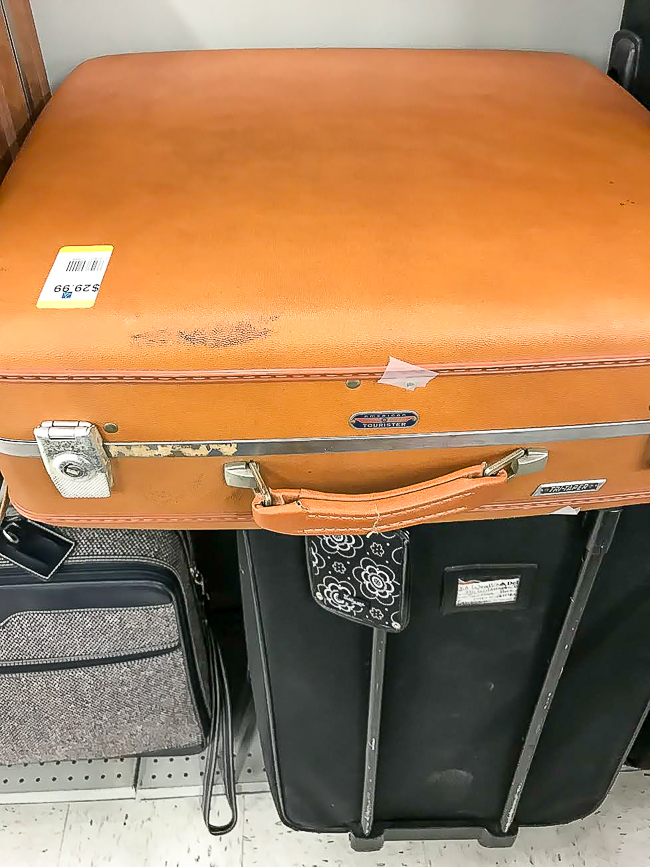overprices vintage hard case suitcase