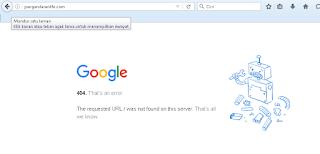 Google tidak bisa menemukan halaman yang dicari