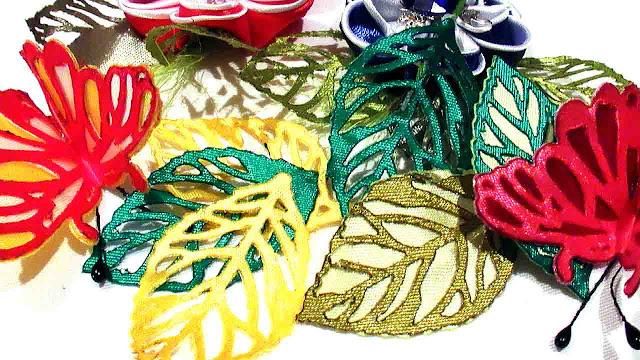 Листочки для цветов канзаши