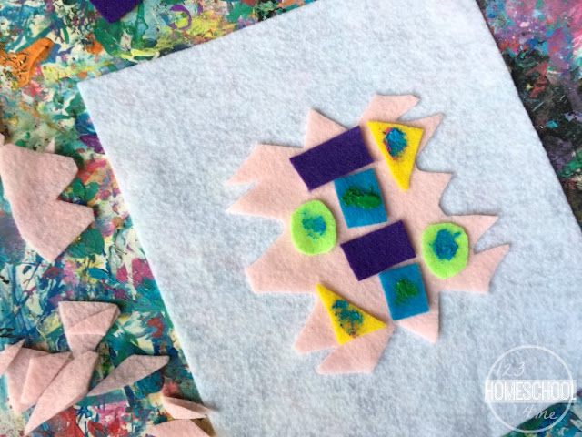 use tempura paint on your felt shapes project if you like