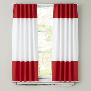 red striped curtains for window treatments
