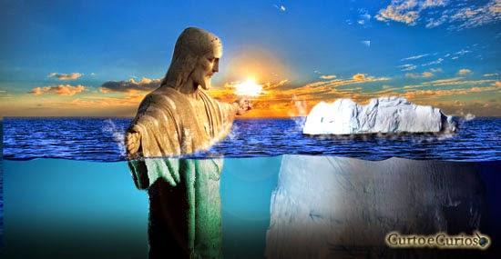 O que acontece se todo o gelo do nosso planeta derreter? Cristo redentor submerso