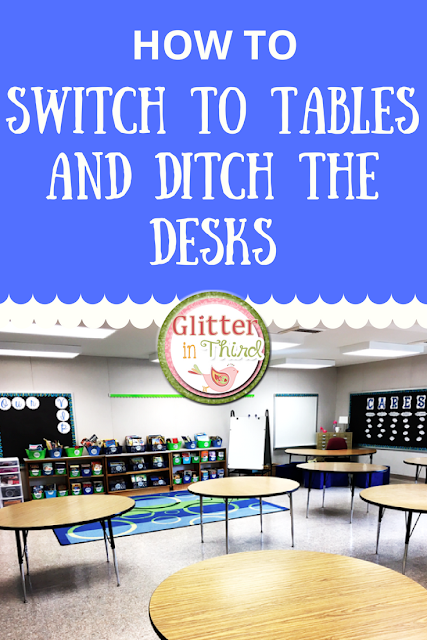 Thinking about switching from desks to tables? Find out how to manage storage when your students are using community supplies!