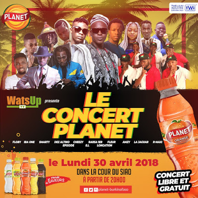 "E.L Headlining At WatsUp TV ""Le Concert Planet "" Also Performing Iba One, Epixode & Floby In Ouagadougou, Burkina Faso"