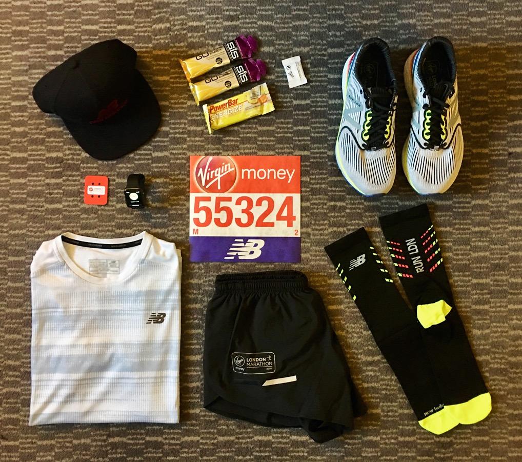 London Marathon Race Pack Outfit