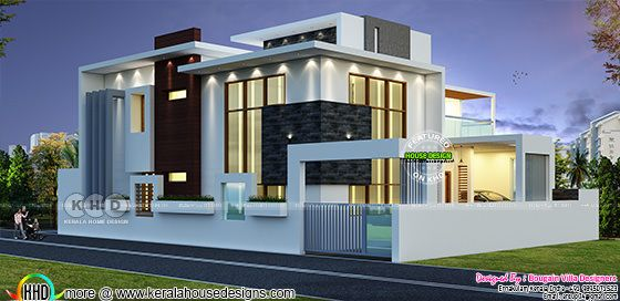 Flat roof contemporary home 2700 square feet