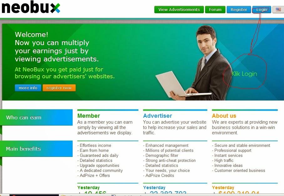 Mengganti Sistem Pembayaran Pada Neobux Dengan Netelller