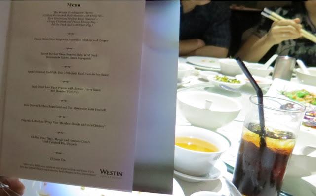 wedding menu westin kl