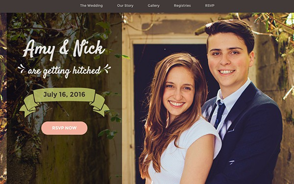 Wedding Invitation Bootstrap Template