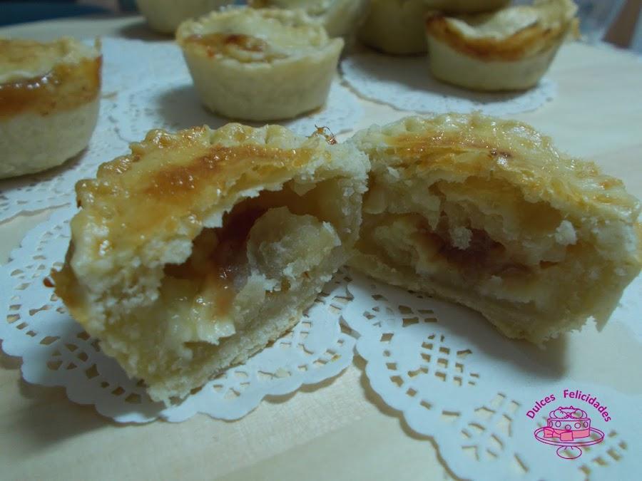Tartaletas de queso de rulo de vaca y dulce de membrillo