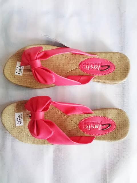 sandal classic pita pink wanita dewasa