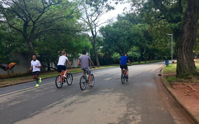 Ciclovia e pista de corrida Parque Ibirapuera