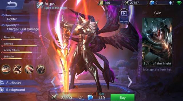 Menurut kisah latar belakang game mobile legends Build Item Gear Argus Terkuat di Mobile Legends