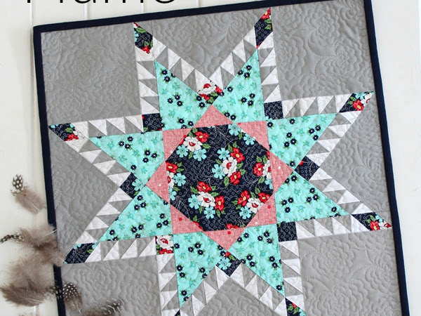 Plume Mini Quilt + Your Free July 2017 Calendar