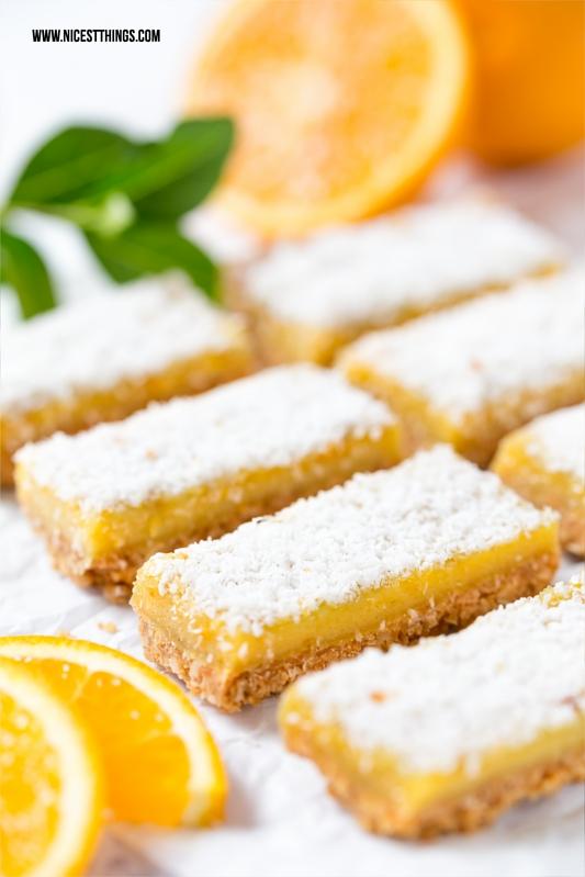 Gesunde Orangen Müslischnitten, Orange Bars Rezept