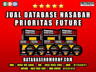 Jual Database Nasabah Prioritas Future