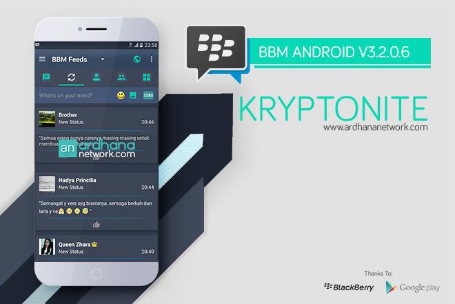 BBM Kryptonite - BBM MOD Android V3.2.0.6
