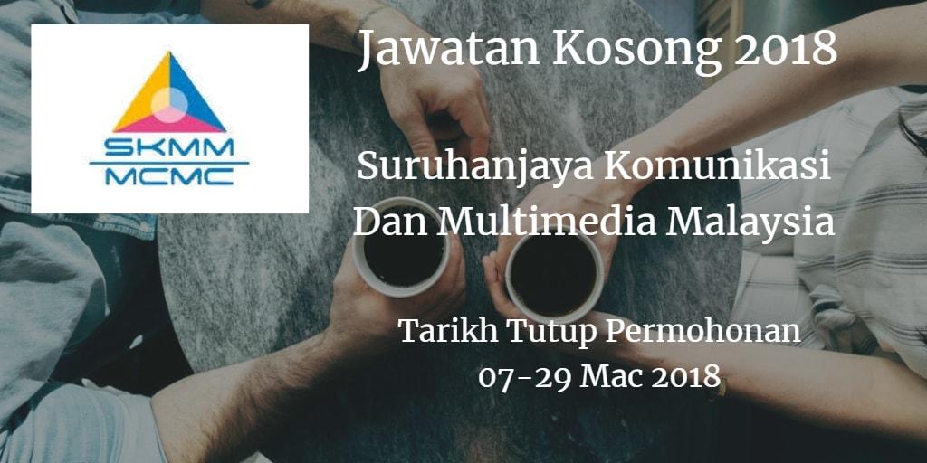 Jawatan Kosong MCMC 07 - 29 Mac 2018